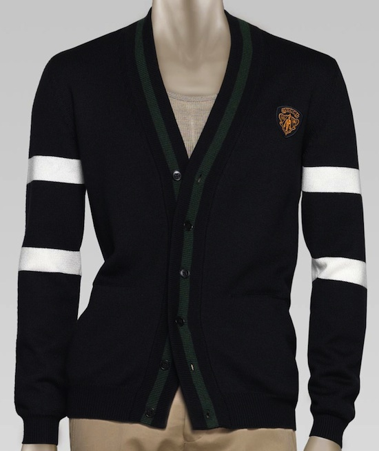 4c8364ab38de Carmelo Anthony in Gucci Striped Cardigan